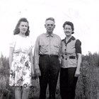 Mary Jane, William and Ellen McGettigan, Fairbanks, Alaska, 1945.