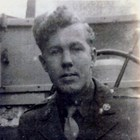 Stanley Aho in uniform during World War II, 1944.