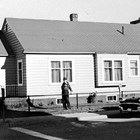 Allen Home at 5th Avenue and H Street, Anchorage.  Jerry T. Allen purchased this home in 1944.
