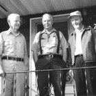 "Left to right:  Robert ""Bob"" Ames (1907-1993); Philip ""Phil"" Ames (1921-2002); and Richard Ames (1927-1998)."