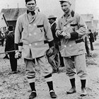 Ernest Amundsen and another member of the Valdez, Alaska baseball team.