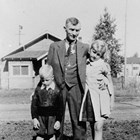 Ernest Amundsen with son Charles and daughter Betty Lou.
