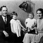 Anton and Alma Anderson with two daughters, 1934.