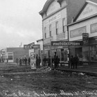 Oscar Anderson's Ship Creek Meat Market on Fourth Avenue, Anchorage, 1916.