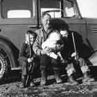 Moritz Andresen with sons, Carl and Fred, 1937.