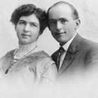 Charles and Esther Balhiser, 1907 (wedding portrait).