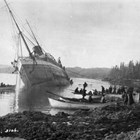 Esther and three-month old Margery were onboard the SS Mariposa en route to Alaska when it struck a rock ledge on upper Fitzhugh Sound, British Columbia, on October 8, 1915.