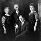 John and Catherine O'Neill (Lillie's mother, who had remarried after Lillie's father, Walter Burbank, died) with Frank and Lillie Berry, in 1922.