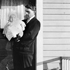 Frank Berry and infant son, Frank E., 1925.