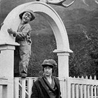 "Catherine Ashton and her son, William ""Bill,"" 1920."