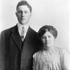 Fred Earl Bowman (1890-1959) and Anna Anholm Bowman (1885-1953). Photograph,  ca.  1921.