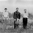 Edward, Fred, Harry, and Howard (youngest son, in front) Bowman at home at 627 D Street, Anchorage, ca. 1933.