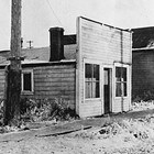 The Bystedt family's first home in Anchorage, 4th Avenue and B Street.
