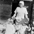 Jenny Carlson and children, ca. 1918.