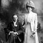 John Horatio Crawford (1879-1964) and Nellie May Heilman Crawford (1892-1957). Photograph taken in 1911.