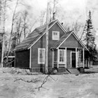 The Cunninghams' first home, Alaskan Engineering Commission quarters on Government Hill, Anchorage, 1916.