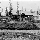AEC Commissioner William C. Edes' house under construction on 2nd Avenue, Anchorage, 1917-1918.  Edes resigned as chairman and chief engineer on August 29, 1919.  The Cunningham family purchased this home in 1928.