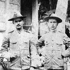 Sgt. Leopold David (left) of the U.S. Army Medical Corps during the Philippine Insurrection (1899-1902).