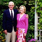 "Robert ""Bob"" Dodd and wife, Carol Ann, at home, ready to attend her fiftieth Anchorage High School class reunion, 2003."