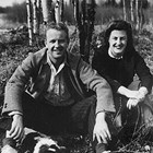 "Robert ""Bob"" and Doris Phillips. Inscription reads: ""Just married, August 29, 1942. Went fishing!"""
