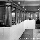 Lobby of the First National Bank of Anchorage, ca. 1930.