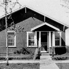 The Gelles' first home, 602 L Street, Anchorage, 1936.