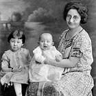 "Anna Gottstein with children ""Molly"" and ""Barney,"" ca. 1926."