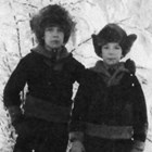 Brothers John and Edward Gruble, ca. 1924.