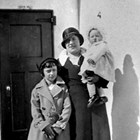 Margaret Harlacher with daughters Betty Ann and Dorothy Jean (baby), 1933.