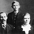 Isak and Amanda Bloomquist, front, with their son (name not given) and daughter, Esther.