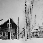 Log homes built by Isak Bloomquist, 536 and 546 L Street, Anchorage, 1917.