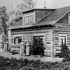 The Johnson home at 1121 6th Avenue, Anchorage. This log home was built in 1917 by Isak Bloomquist.