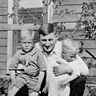 John Johnson with sons Forrest and Russell.