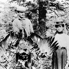 Irving and Della Kimball in Kodiak, 1902.