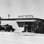 Snow White Laundry and Cleaners, 7th Avenue and I Street, Anchorage, 1951.