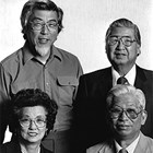 "Clockwise from top left:  Sam Kimura (1928-1996); William (""Bill"") Kimura (1920-1991); George Kimura (1916-1998), and Louise Kimura Wood (1918-2003)."