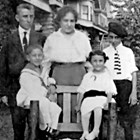 Lena and Isaac Koslosky and three of their children, ca. 1914.