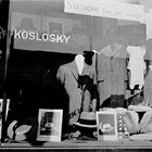 The front window of Koslosky's men's clothing store, ca. 1930.