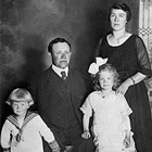 Parents Andrew and Elizabeth Landstrom, son Franklin, and daughter Elizabeth, 1921.