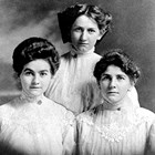The Thompson girls: Ann, left, and her sisters. Ceil is at center; Isabel at right.