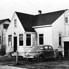 The Longacre family home on 3rd Avenue, remodeled, ca. 1941. This was formerly Cottage No. 26 of the Alaskan Engineering Commission. John Longacre initially rented and later purchased the cottage.