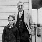 Paul Marsch and his son, Burt, 1934.