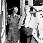 "Clara and Herbert H. ""H.H."" McCutcheon in Juneau during the 1941 session of the Alaska Territorial Legislature."
