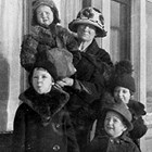 "Top to bottom: Lucy McDannel, Mary McDannel, twins Mary and Helen McDannel, and John Casey (""J.Casey"") McDannel, 1924."