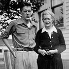 James R. Nelson with his mother, Hulda Campbell Nelson.