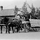 The Ohls Dairy float in the Anchorage Fourth of July parade, 1929.