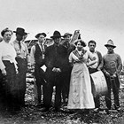 "Charles and Matilda Olson's wedding ""Chivaree"" in Takotna, Alaska, 1912."