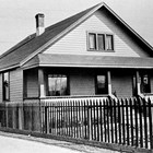 The Pastro home on 4th Avenue between A and B Streets, Anchorage, 1934.