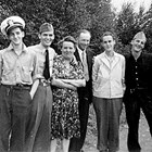 "A family gathering, ca. 1941.  Left to right:  John; Ernest ""Ernie""; Anna; Tom Sr; William ""Bill""; and Tom Jr."