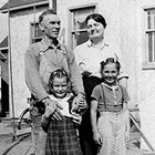 Emil and Muriel Pfeil and daughters Caroline and Muriel, 618 I Street, Anchorage,1940.
